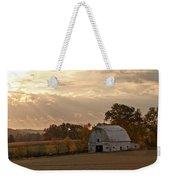 Barn In Warming Storm Weekender Tote Bag by Randall Branham