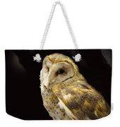 Barn Owl In A Dark Tree Weekender Tote Bag