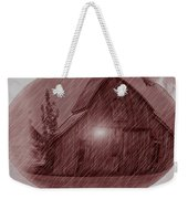 Barn Snow Globe Weekender Tote Bag