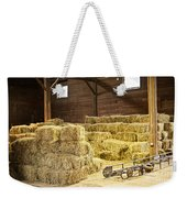 Barn With Hay Bales Weekender Tote Bag