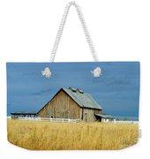 Barn With Stormy Skies Weekender Tote Bag
