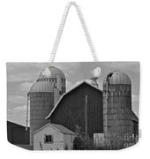 Barns And Silos Black And White Weekender Tote Bag