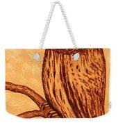 Barred Owl Coffee Painting Weekender Tote Bag