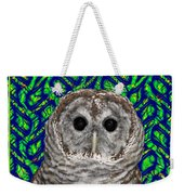 Barred Owl In A Fractal Tree Weekender Tote Bag