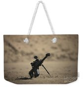 Barrett M82a1 Rifle Sits Ready Weekender Tote Bag