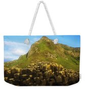Basalt Rock Formations Near A Mountain Weekender Tote Bag