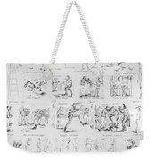 Baseball Cartoons, 1859 Weekender Tote Bag