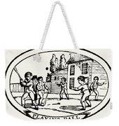 Baseball Game, 1820 Weekender Tote Bag