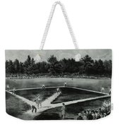 Baseball In 1846 Weekender Tote Bag by Omikron