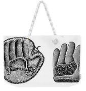 Baseball Mitt, C1900 Weekender Tote Bag