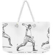Baseball Pitching, 1889 Weekender Tote Bag