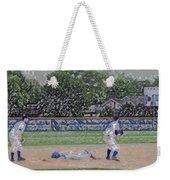 Baseball Playing Hard Digital Art Weekender Tote Bag