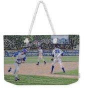 Baseball Runner Heading Home Digital Art Weekender Tote Bag