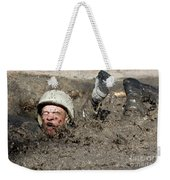 Basic Cadet Trainees Attack The Mud Pit Weekender Tote Bag