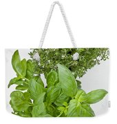 Basil And Thyme Weekender Tote Bag by Joana Kruse
