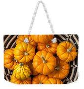 Basket Full Of Small Pumpkins Weekender Tote Bag