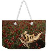 Basket Of Bread In A Poppy Field Weekender Tote Bag