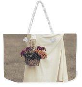 Basket With Flowers Weekender Tote Bag