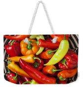 Basketful Of Peppers Weekender Tote Bag