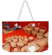 Basketwork Weekender Tote Bag