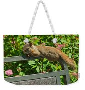 Basking Squirrel Weekender Tote Bag