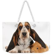 Basset Hound And Guinea Pig Weekender Tote Bag