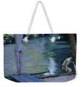 Bather About To Plunge Into The River Yerres Weekender Tote Bag