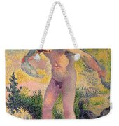 Bather Drying Himself At St Tropez Weekender Tote Bag