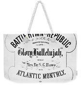 Battle Hymn Of Republic Weekender Tote Bag