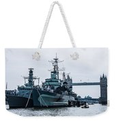 Battleships And Tugboat Weekender Tote Bag
