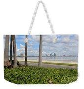 Bayshore Through Palms Weekender Tote Bag
