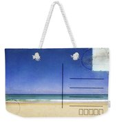 Beach And Blue Sky On Postcard  Weekender Tote Bag by Setsiri Silapasuwanchai