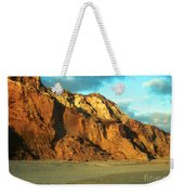 Beach Cliff At Sunset Weekender Tote Bag