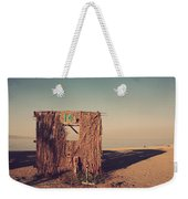 Beach Hut Number Fourteen Weekender Tote Bag by Laurie Search