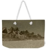 Beach Huts In A Tropical Paradise Weekender Tote Bag