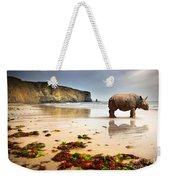 Beach Rhino Weekender Tote Bag