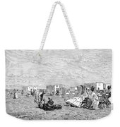 Beach Scene, 19th Century Weekender Tote Bag