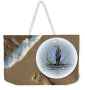 Beached Heron Weekender Tote Bag