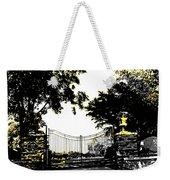 Beacon Rock Gate Newport Ri Weekender Tote Bag