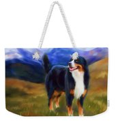 Bear - Bernese Mountain Dog Weekender Tote Bag by Michelle Wrighton