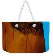 Bear In Log Weekender Tote Bag