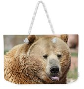 Bear Rasberry Weekender Tote Bag