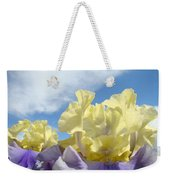 Bearded Iris Flowers Art Prints Floral Irises Weekender Tote Bag