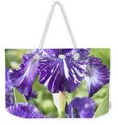 Bearded Iris Iris Germanica Batik Weekender Tote Bag