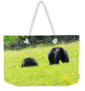 Bears In A Peaceful Meadow1 Weekender Tote Bag