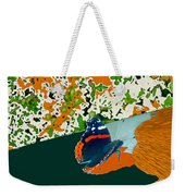 Beautiful Butterfly On A Gold Weekender Tote Bag