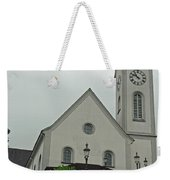 Beautiful Church In The Swiss City Of Lucerne Weekender Tote Bag