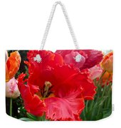 Beautiful From Inside And Out - Parrot Tulips In Philadelphia Weekender Tote Bag
