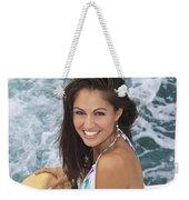 Beautiful Girl Boating Weekender Tote Bag