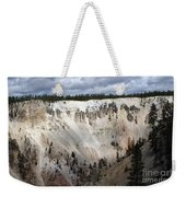 Beautiful Lighting On The Grand Canyon In Yellowstone Weekender Tote Bag